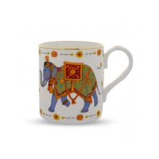 Купить Кружка CEREMONIAL INDIAN ELEPHANT MUG ON WHITE