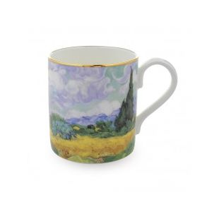Купить Кружка 'A WHEATFIELD, WITH CYPRESSES' BY VAN GOGH MUG